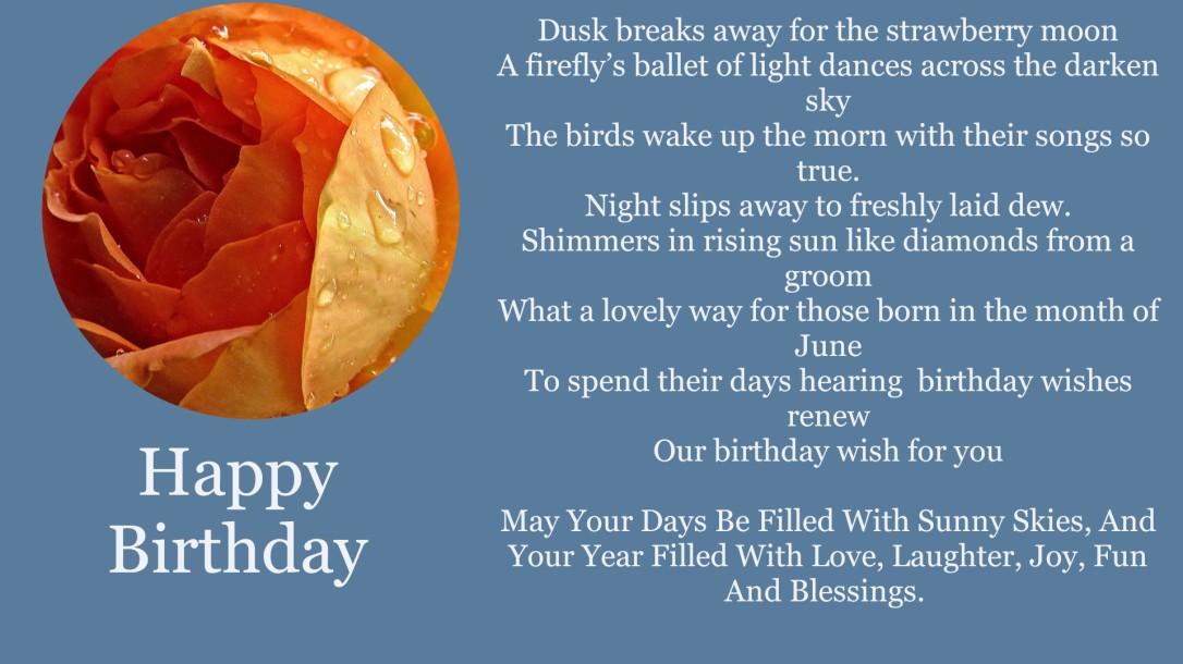 Birthday wishes june